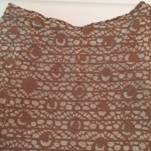 Lole Tops - Lole brown long sleeve sheer wide neck top size M